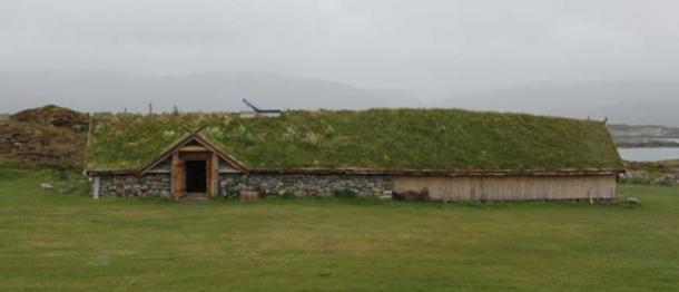 The reconstructed Tranås Iron Age farm located only a few hundred meters from Sandvika. (Photo: ThorNews)