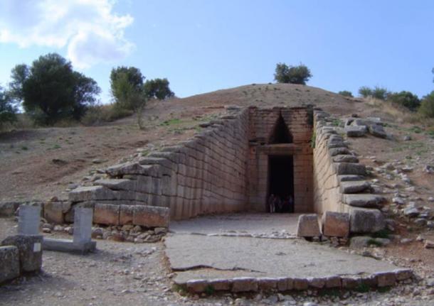 The Treasury of Atreus in Mycenae, Greece