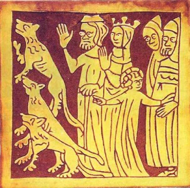 Tring Tile showing Jesus with lion cubs. (Wendy Austin)