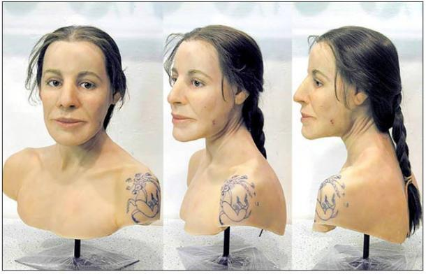 Restored face likeness by Swiss expert Marcel Nyffenegger