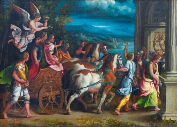 Triumph of Titus and Vespasian. (Pyb / Public Domain)