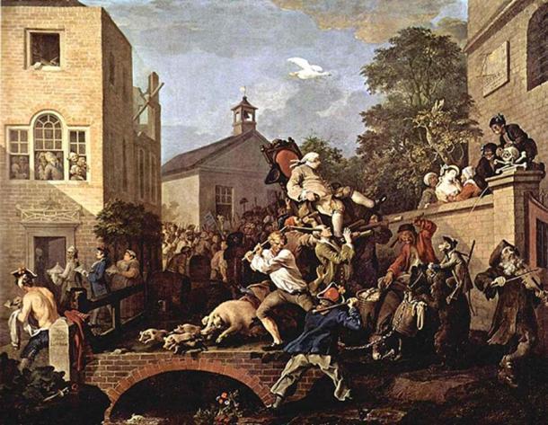 Triumph of the Deputies, William Hogarth, 1764.