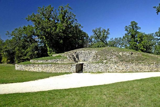 Tumulus A, one of 5 barrows at Bougon, western France