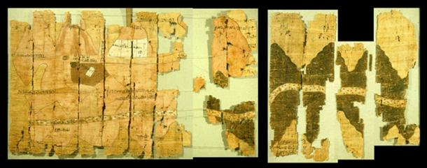 Left half of the Turin papyrus map, courtesy J. Harrell.