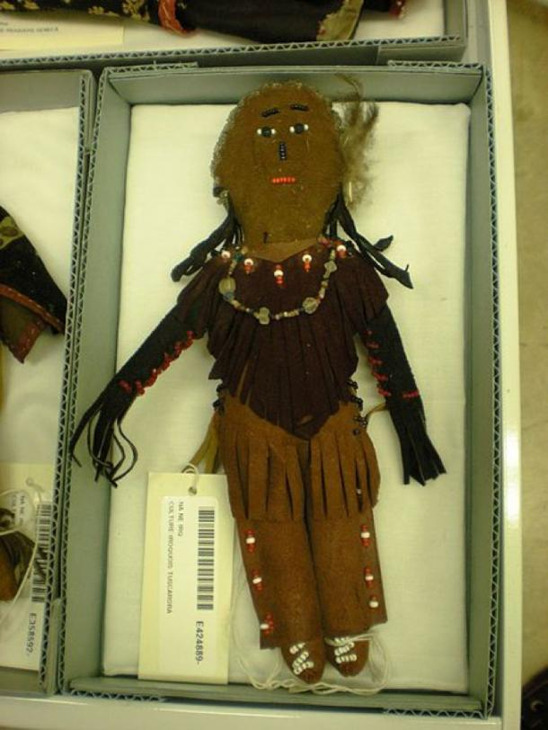 Tuscarora Cornhusk Doll at the storage site in Maryland for the National Museum of Natural History. (Sarah Stierch/CC BY 2.0)