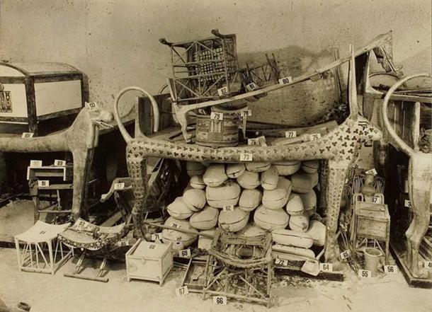 Tutankhamum's tomb produced a wealth of items for archaeologists. Harry Burton: Tutankhamun tomb photographs