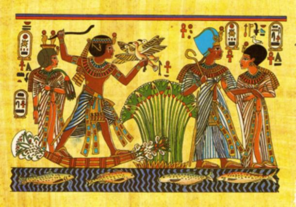 Tutankhamun and his wife Ankhesenamun hunting in the swamps and taking a walk. (Ali Eminov / CC BY-SA 2.0)