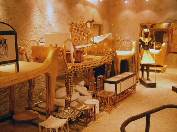 Tutankhamun's tomb, believed to be protected by a powerful curse
