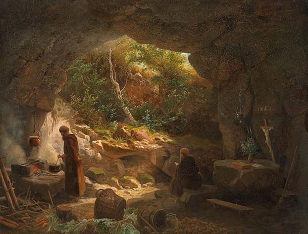 Two hermits in a cave. Some chose to be alone together