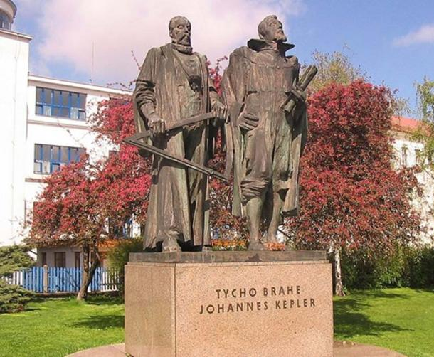 Monument to Tycho Brahe and Kepler in Prague, Czech Republic