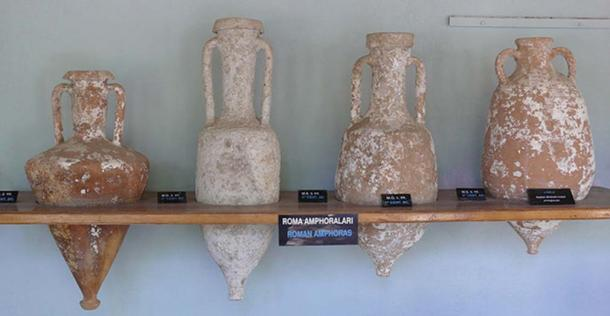 Types of Roman amphorae at Bodrum castle (Turkey). (Ad Meskens/CC BY SA 3.0)