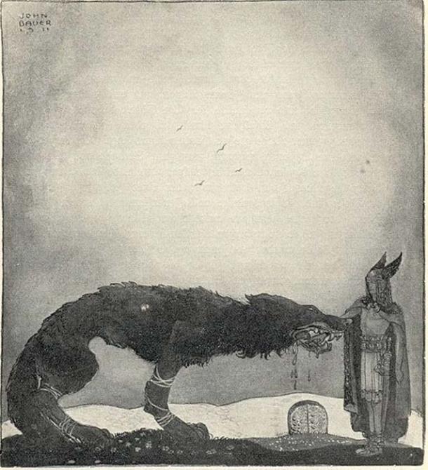 Tyr and Fenrir. (Public Domain)