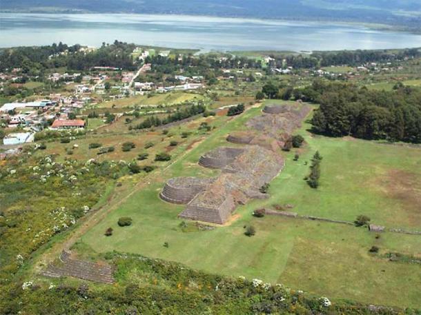 Aerial view of Tzintzuntzan. (Latin American Studies)