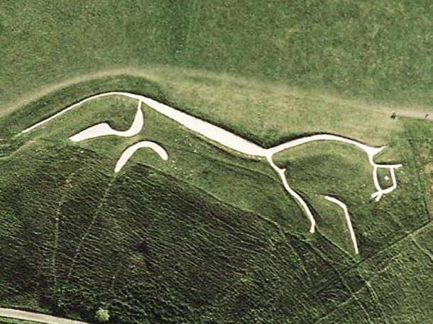 The Uffington White Horse, a prehistoric hill figure.