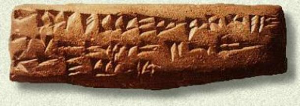 Ugaritic script. (Public Domain)