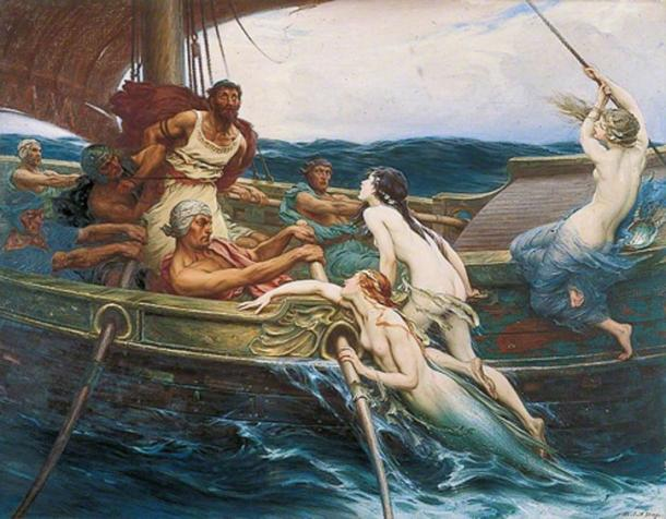 Ulysses Odysseus and the Sirens by Herbert James Draper. (Public Domain)