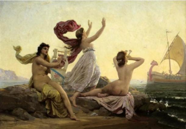 Ulysses and the Sirens, 1868, Firmin Girard