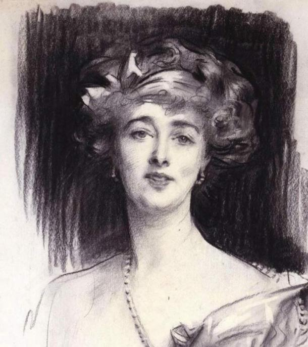 Undated sketch of Daisy by John Singer Sargent