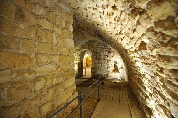 Underground Knights Templar citadel of Acre, Israel. (PROMA / Adobe)