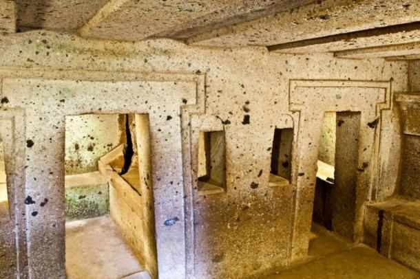 Underground hypogea at Cerverteri.