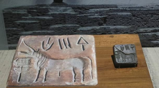 Unicorn seal of Indus Valley, Indian Museum.