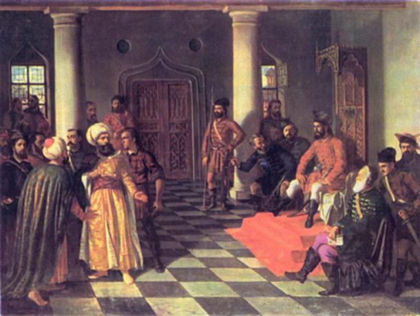 'Vlad the Impaler and the Turkish Envoys' by Theodor Aman. (Public Domain)