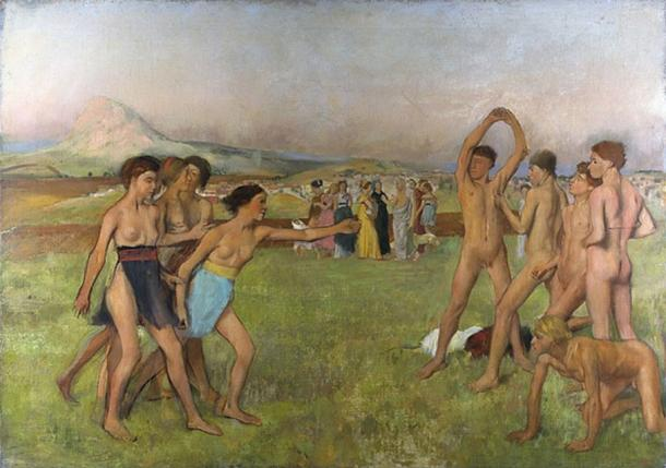 Spartan exercise was part of the agoge for young Spartan males training to be Spartan soldiers. Females, however, were encouraged to exercise with the males. (Paroll / Public Domain)