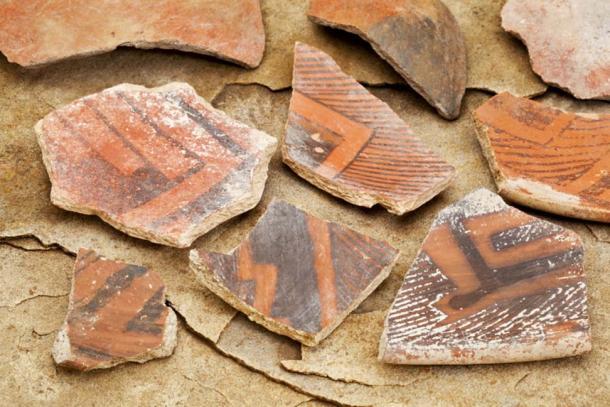 Anasazi (Ancestral Puebloan) pottery sherds (900-1300AD). (Image: Marek via Fotolia)