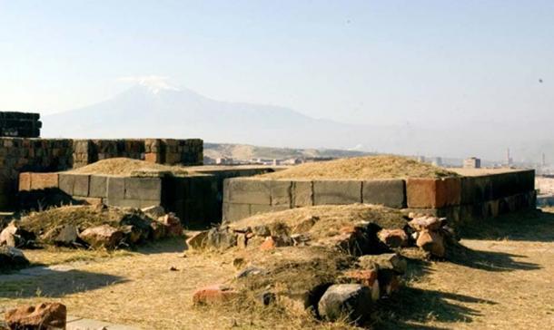 A Urartian Temple in the Erebuni Fortress, Turkey.