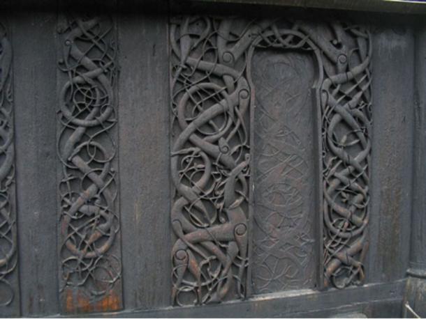 Urnes Stave Church north portal, Urnes, Norway, c. 1132 AD.