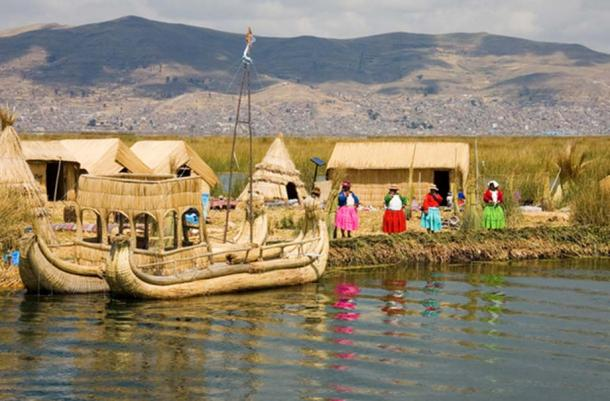 Uros floating islands, Lake Titicaca