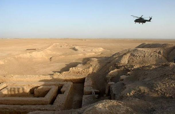A general view of the Uruk archaeological site at Warka in Iraq.