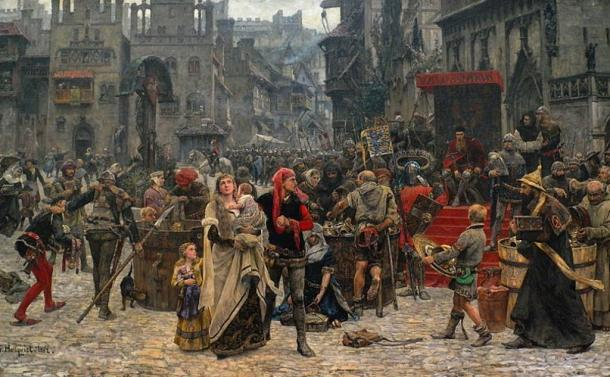 Valdemar Atterdag holding Visby to ransom, 1361 by Karl Gustaf Hellqvist