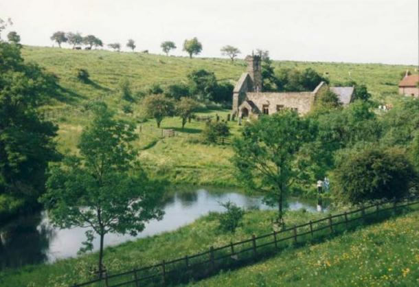 'Vampire graves' have been found at the abandoned village of Wharram Percy in Yorkshire. Paul Allison via Alchemipedia. (CC BY 4.0)