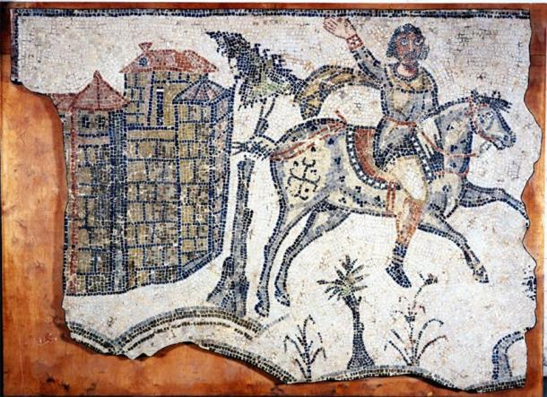 Vandal cavalryman, c. AD 500, from a mosaic pavement at Bordj Djedid near Carthage. (Public domain)