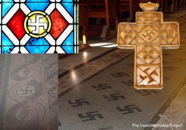 Various examples of the swastika in Christian settings. (The Swastikaphobia Project)