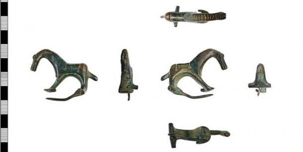 Various views of the Roman brooch. (The Collection Museum in Lincolnshire)