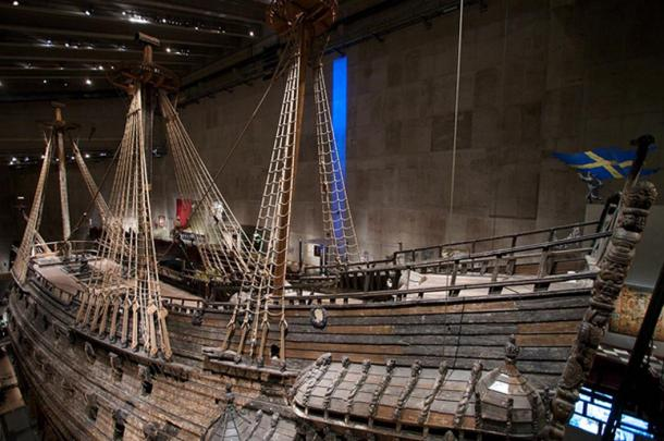 Vasa's port side.
