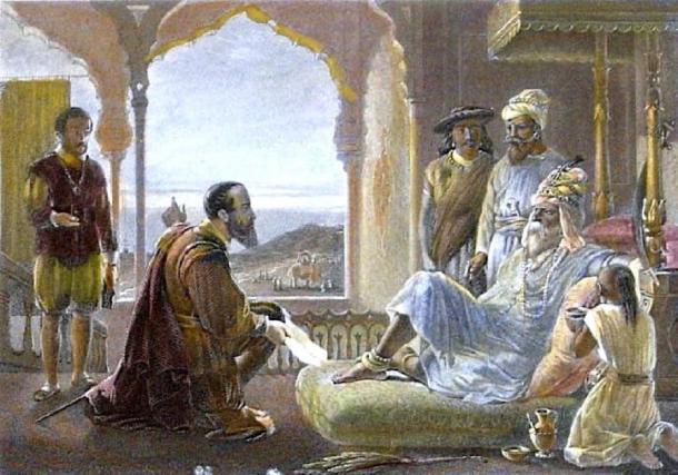 Vasco da Gama meets Zamorin. (Donaldduck100 / Public Domain)