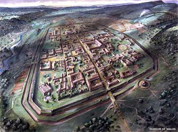 The Silure civitus 'Venta Silurum' (Caerwent) at its full extent. (Museum of Wales)
