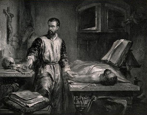 Andreas Vesalius in his laboratory.