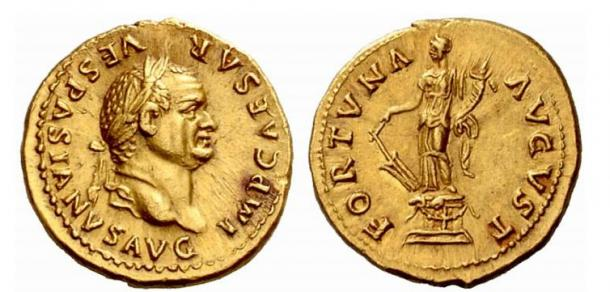 Vespasian Aureus Fortuna (75-79 AD)