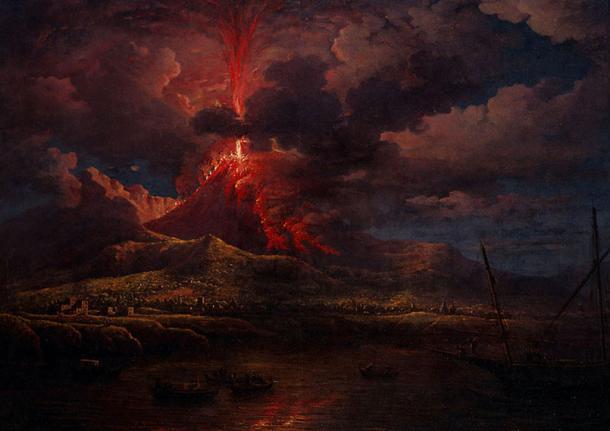 Vesuvius erupting at Night, (William Marlow circa 1768)