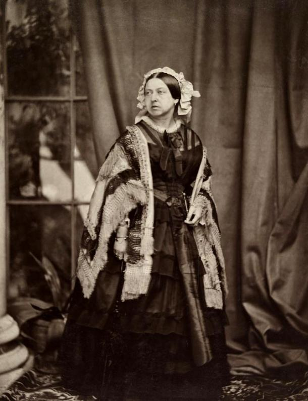 Victoria photographed by J. J. E. Mayall, 1860.