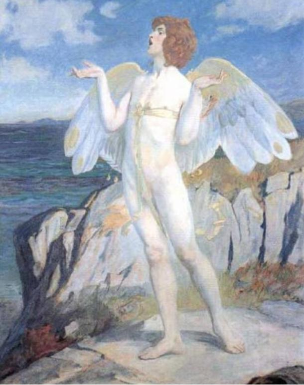 A Victorian era painting of Oengus / Aengus