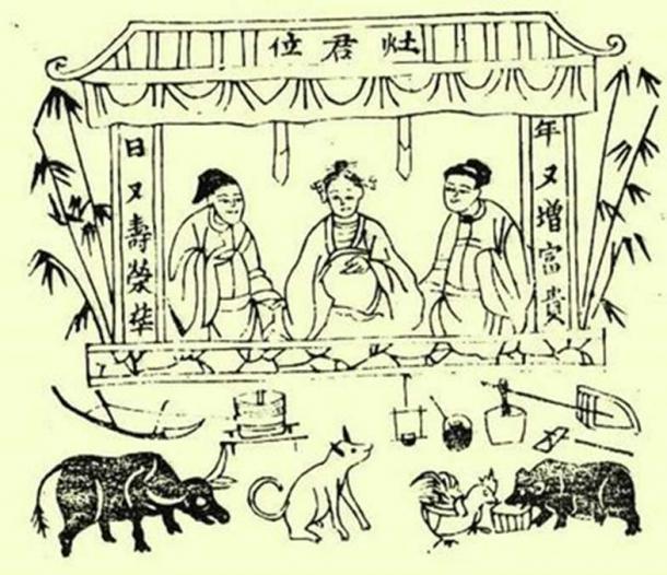 Vietnamese Kitchen Gods (Public Domain)
