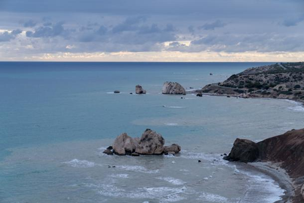 View of Aphrodite Rock area. (Ioannis Syrigos)