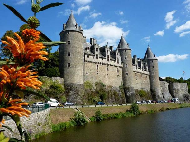 View of Josselyn Castle, France.