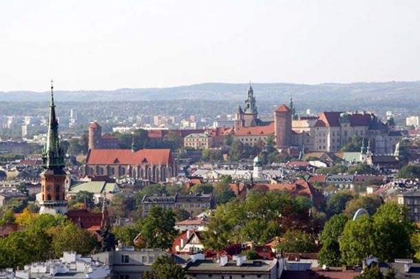 View of Krakow from the mound.