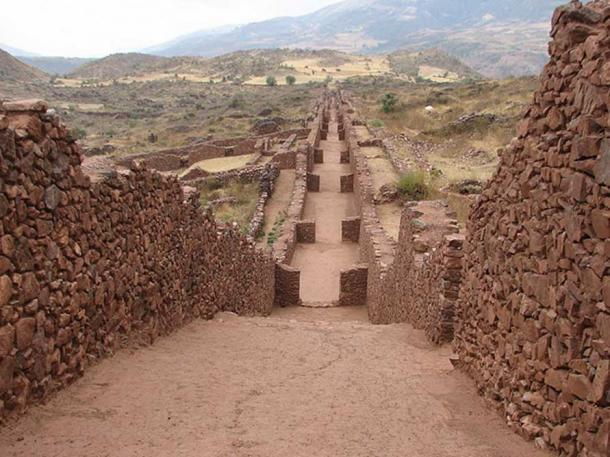 View of Piquillacta, a Wari archaeological site.